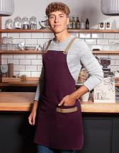 Bib Apron Urban-Look with Cross Straps and Pocket