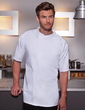 Short-Sleeve Throw-Over Chef Shirt Basic